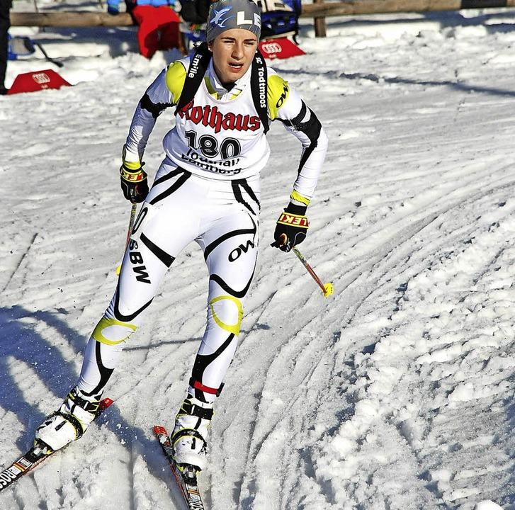 Emilie Behringer überzeugte in Willing... auch mit einer guten Schießleistung.   | Foto: Jürgen Ruoff