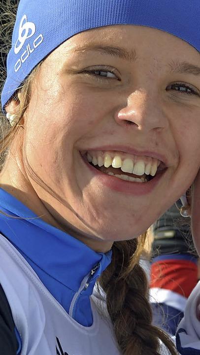 Stolz  auf ihr Debüt im Continentalcup ist Amelie Wehrle.   | Foto: junkel