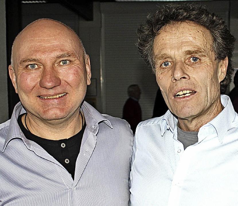 Imkerobmann Norbert Uttner (links) und  der Fachreferent Johannes Wirz .  | Foto: Rolf Reißmann