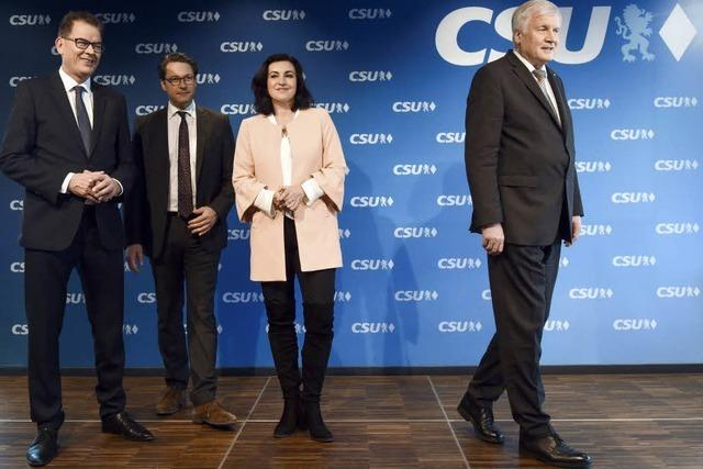 Die CSU schickt drei Männer