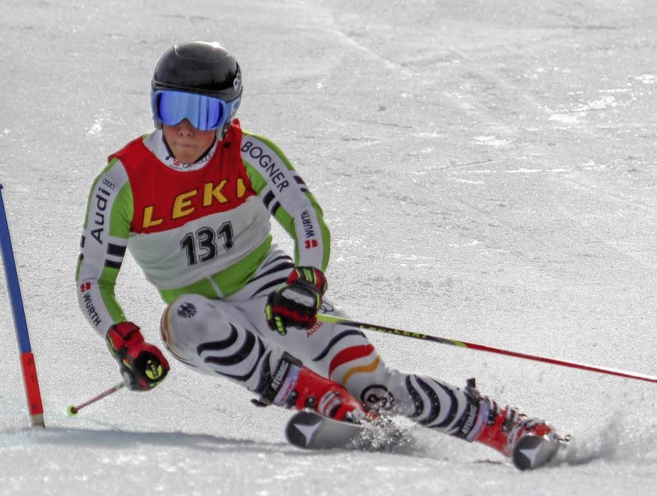 Topläufer des Skiverbands Schwarzwald ...Ferdinand Löffler von der WSG Feldberg  | Foto: martin siegmund