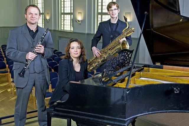 Das Ensemble Dreizweieins musiziert in der Stadthalle Gengenbach