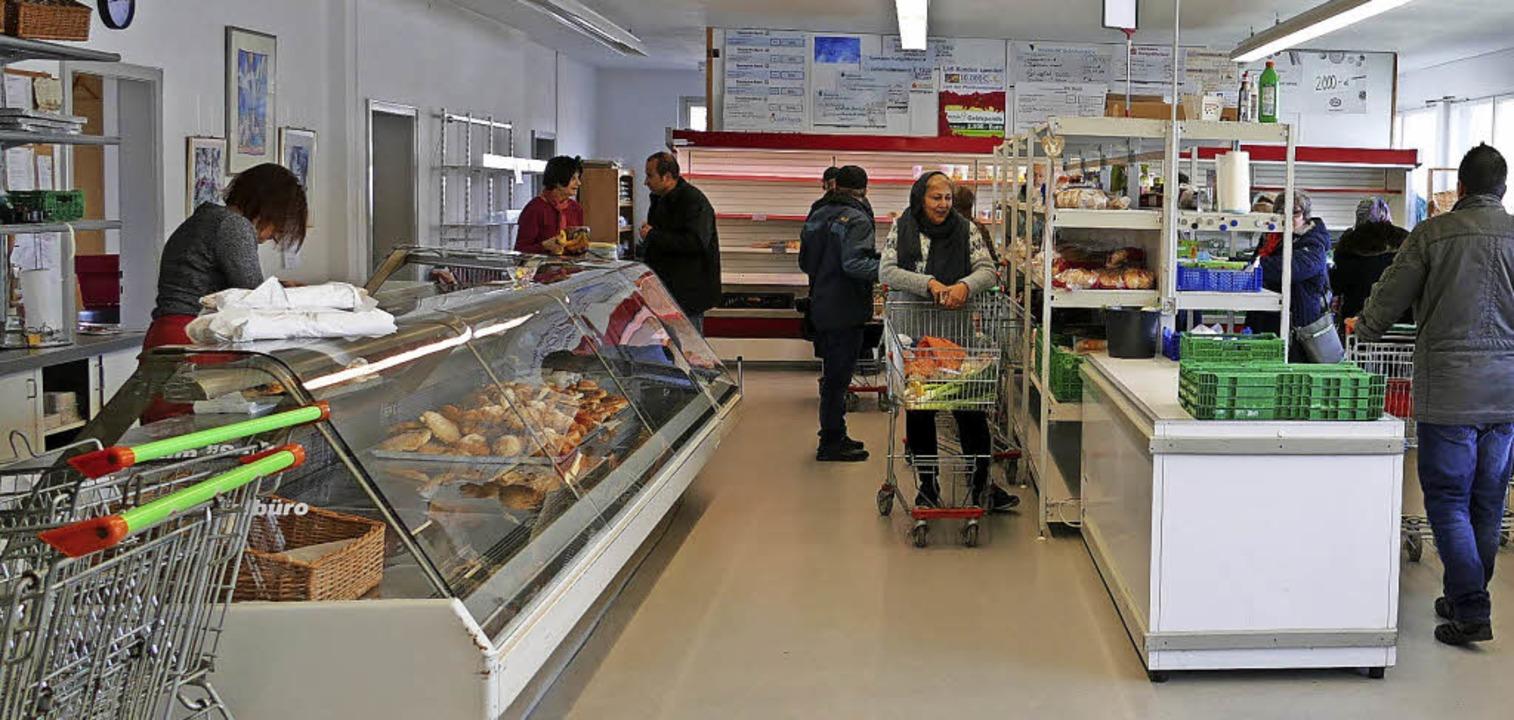 Die Tafel-Kunden können von Montag bis...e im Laden ist meist recht entspannt.   | Foto: Jannik Jürgens