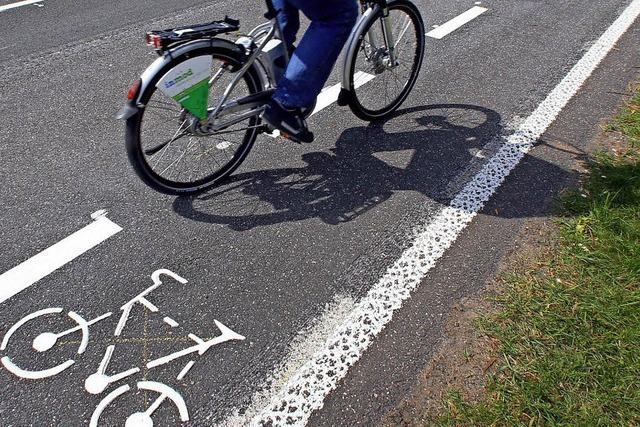 Radwege sind zum Teil zu schmal
