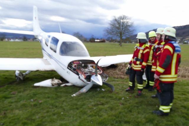 Kleinflugzeug am Flugplatz Herten abgestürzt – keine Verletzten