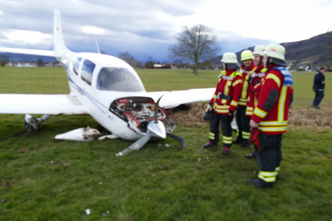 Unfall am Flugplatz in Rheinfelden-Herten.    Foto: Ingrid Böhm-Jacob