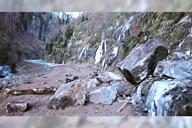 Geplanter Felsrutsch im Wehratal