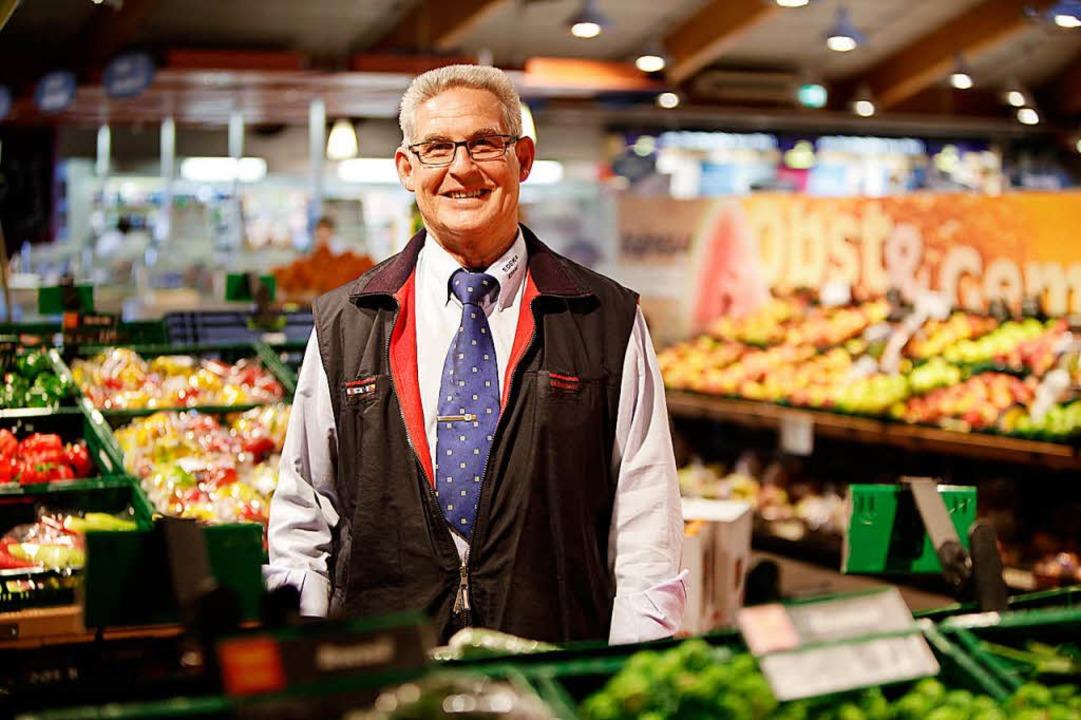 Helmut Kohler war Lebensmittelhändler ...hopfheimer Edeka Kohler-Niederlassung.  | Foto: Christoph Breithaupt
