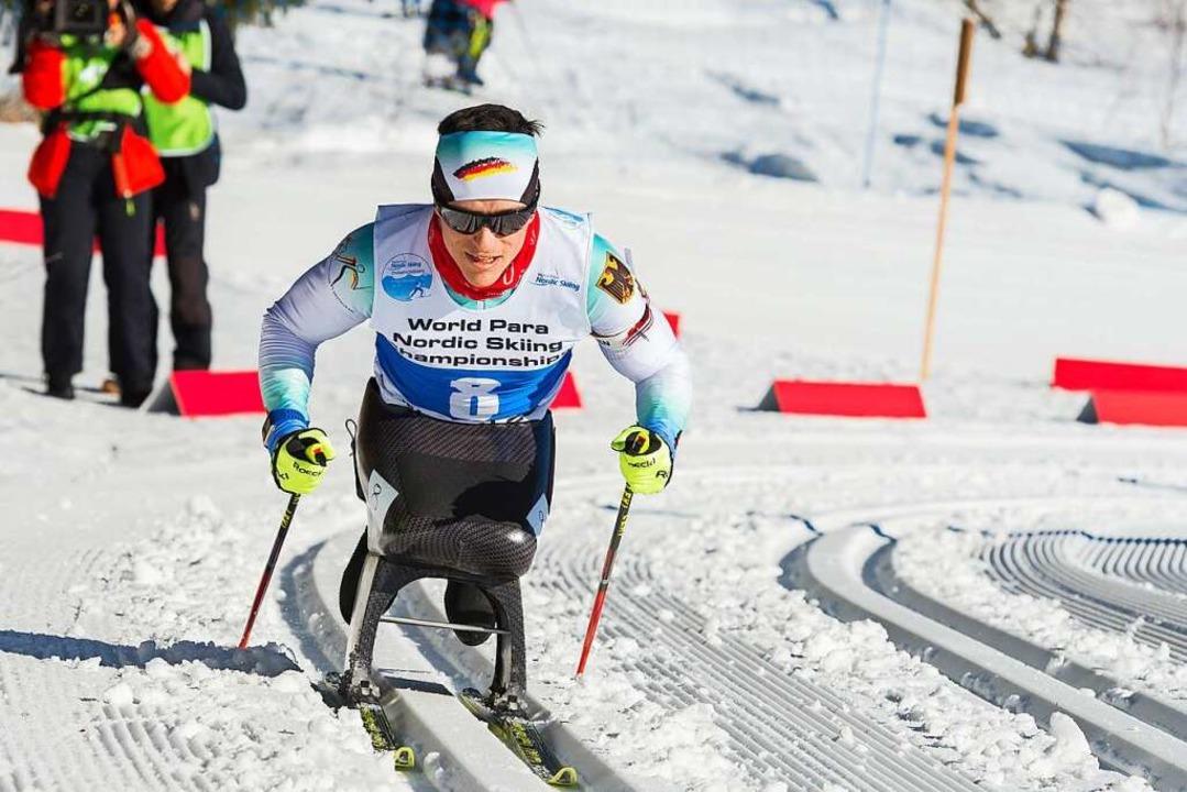 Martin Fleig gewinnt 2017 Gold im Biat... den Weltmeisterschaften in Finsterau.  | Foto: Ralf Kuckuck