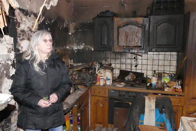 Das Feuer hat ihre Wohnung zerstört – doch Hanna Eckle gibt nicht auf