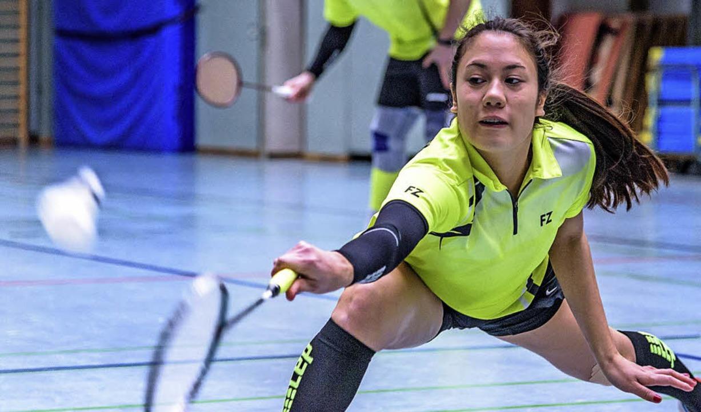 <BZ-FotoAnlauf>Badminton:  </BZ-FotoAn... Schneider und der TV vor dem Aufstieg  | Foto: gründl
