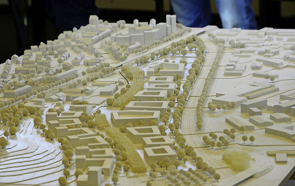 Der Siegerentwurf für Zähringen-Nord d...rd wahrscheinlich in Stufen umgesetzt.  | Foto: Michael Bamberger