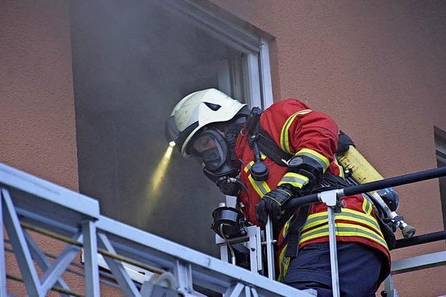 Wohnungsbrand in der Friedlinger Blauenstraße
