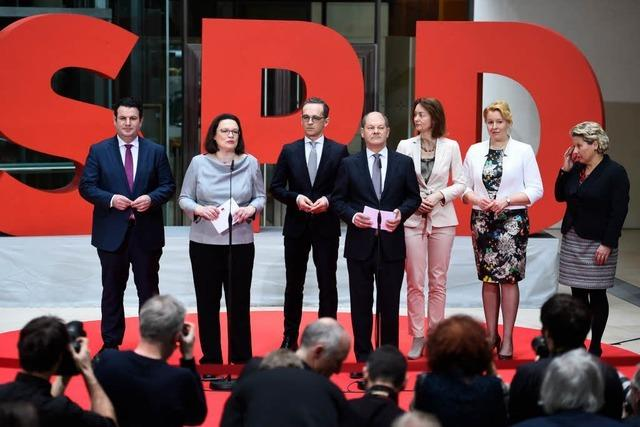 SPD stellt ihre Minister vor – Groko-Kabinett steht