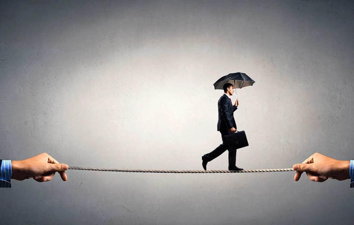 Balance halten: Das gilt bei Datenschu... ebenso wie bei Handelsstreitigkeiten.  | Foto: Sergey Nivens