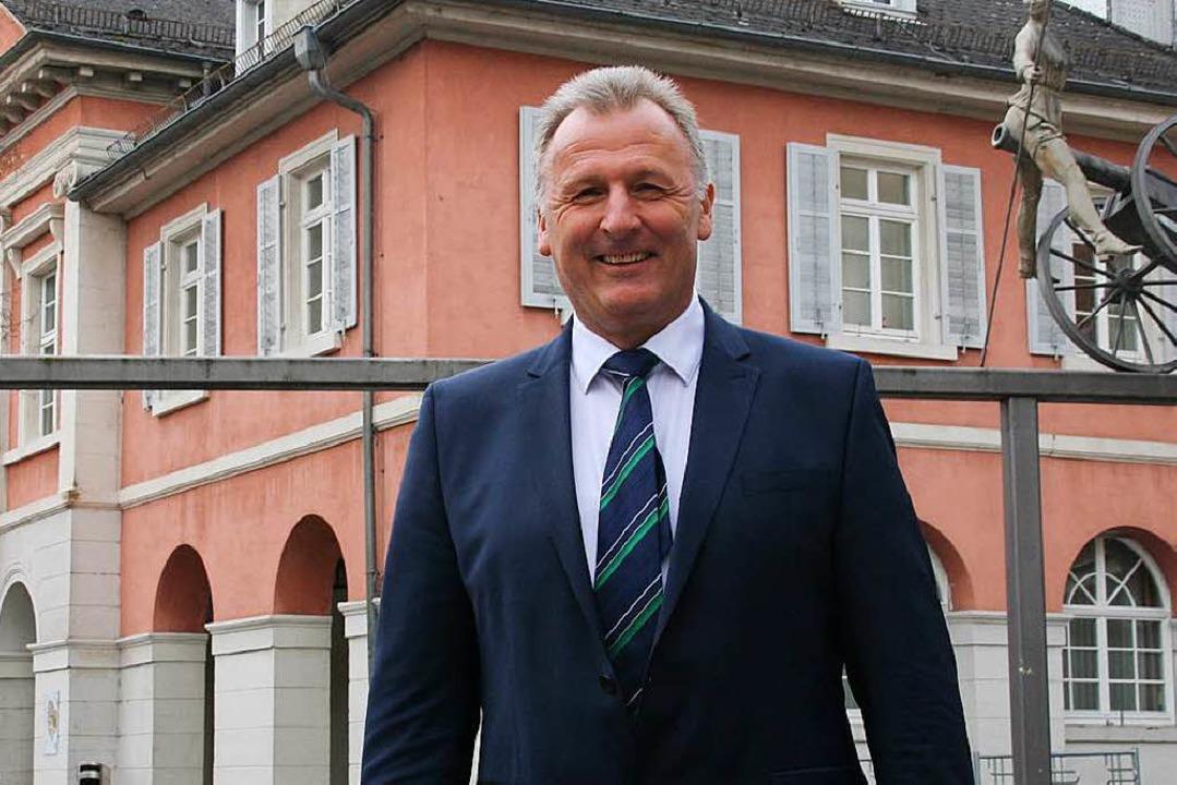 Thomas Gsell, seit 14 Jahren für die S...ür das Bürgermeisteramt in Schopfheim.  | Foto: Marlies Jung-Knoblich