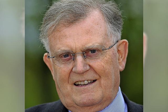 Der ehemalige Ministerpräsident Erwin Teufel predigt in Lörrach zum Thema