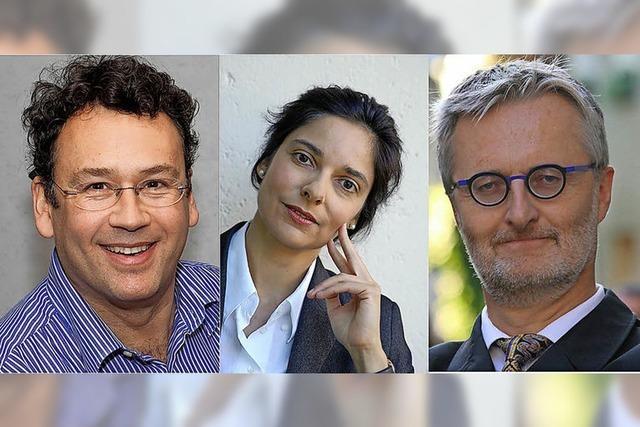 Jasmin Busch (Rezitatorin), Klaus Simon (Piano) und Hans Christoph Begemann (Bariton) in Waldkirch