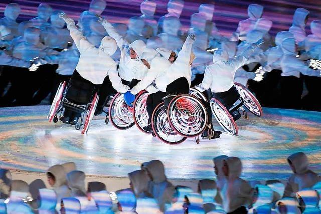 Die Eröffnungsfeier der Paralympics in Südkorea