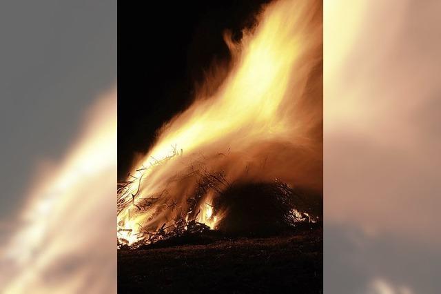 Das Fasnachtsfeuer kann bleiben
