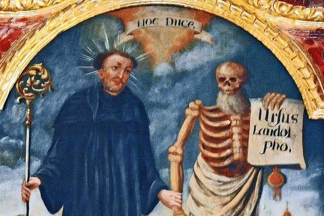 Wie St. Fridolin im Breisgau dargestellt wird
