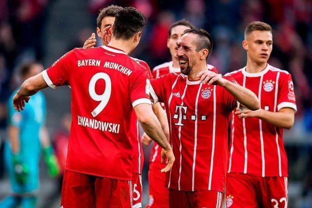 Bayern schießen den HSV erneut ab - Wolfsburg unter Labbadia sieglos