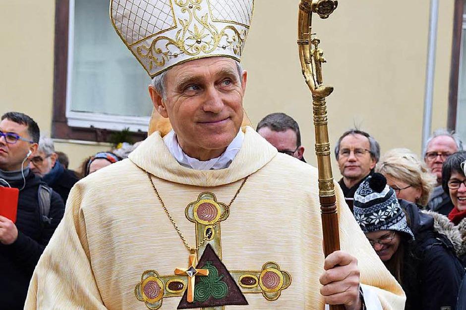 Fridolinsprozession 2018: Erzbischof Georg Gänswein (Foto: Hildegard Siebold)