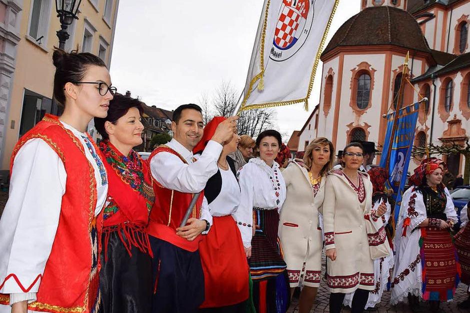Fridolinsprozession 2018: Kroatische Mission (Foto: Hildegard Siebold)