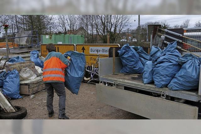 Stadtputzete bringt zwölf Kubikmeter Müll zusammen