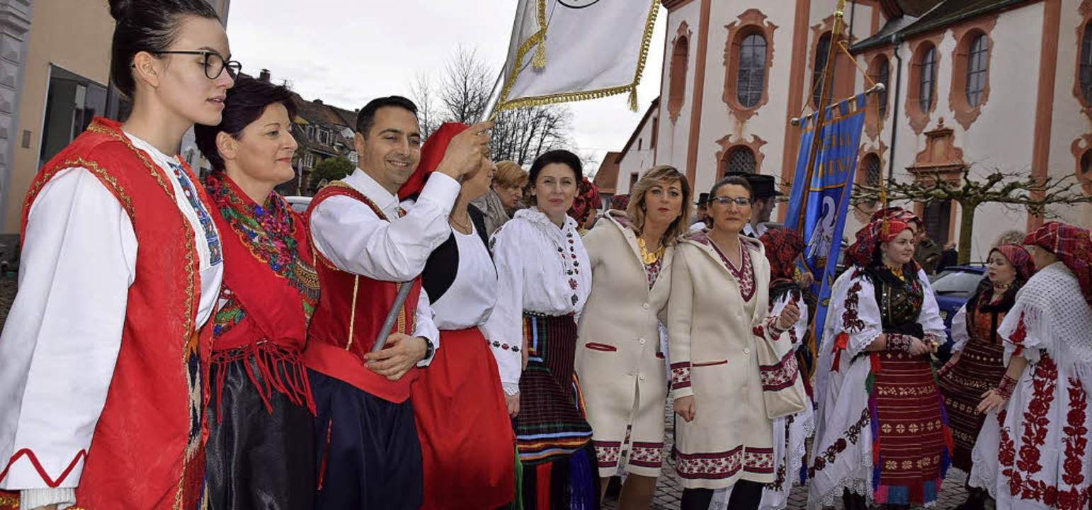 Das Fridolinsfest ist ein Freudenfest.... Pfarrgemeinden der Seelsorgeeinheit.   | Foto: Hildegard Siebold