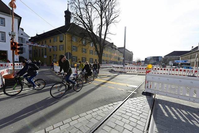 Endspurt auf der Rotteckring-Baustelle: Bald wird in Freiburg was fehlen