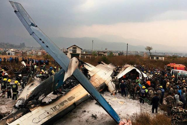 Mindestens 49 Tote bei Flugzeugunglück in Kathmandu