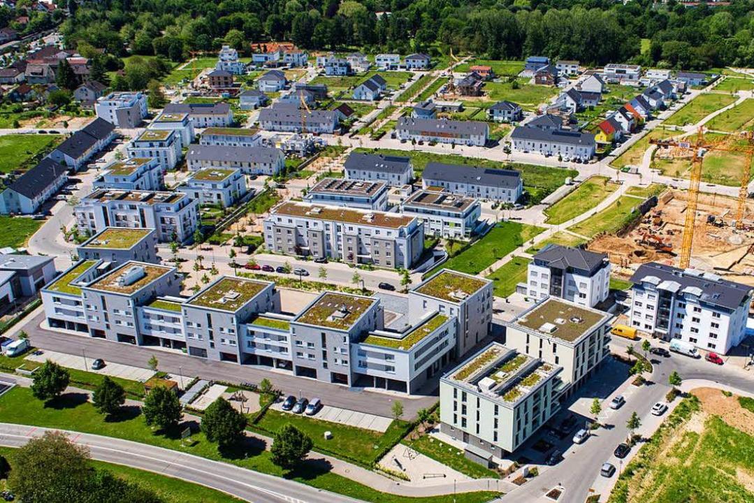 In diesen Baugebieten in Bad Krozingen sollen bezahlbare Wohnungen entstehen.   | Foto: Matthias Weniger