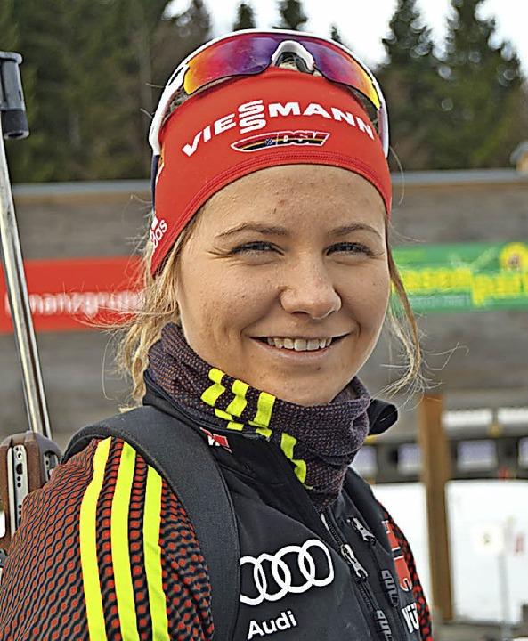 Biathletin Annika Knoll   | Foto: Junkel