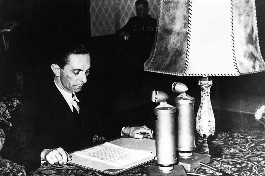 Hitlers Propaganda-Minister: Joseph Goebbels  | Foto: Phoenix/SWR/Staatl._Archiv_Moska