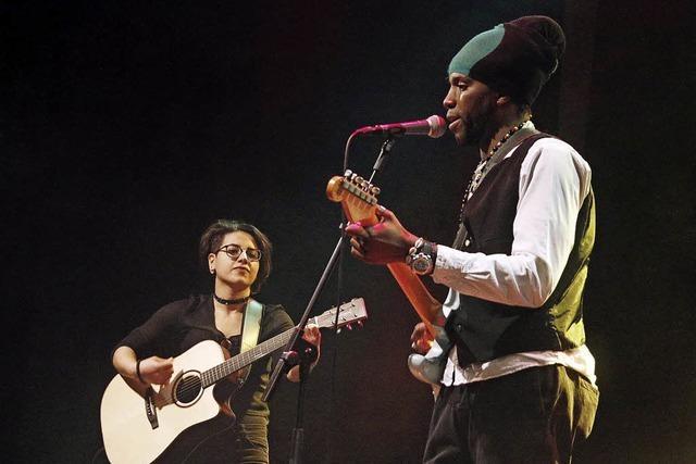 Flüchtlinge live on stage