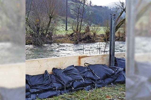 Hochwasserschutz für den Campingplatz