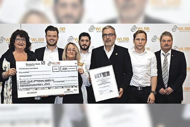 Ehrenamtspreis für den SC Offenburg