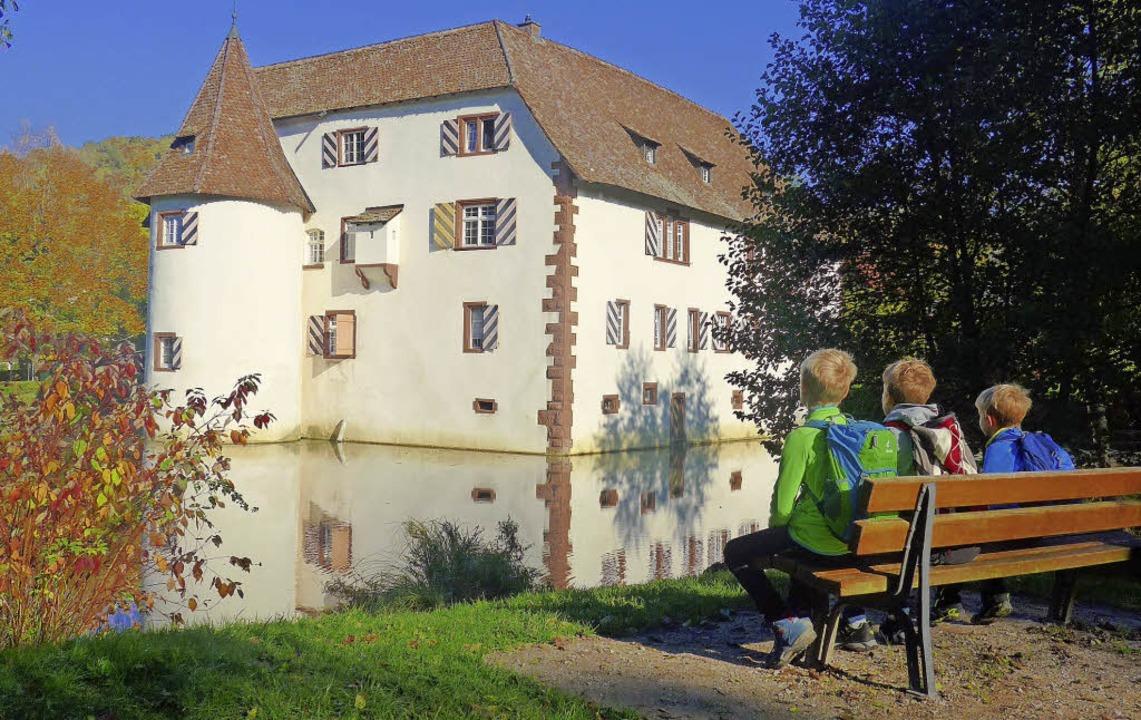 Das Wasserschloss in Inzlingen ist ein Kleinod.   | Foto: Daniel Gramespacher