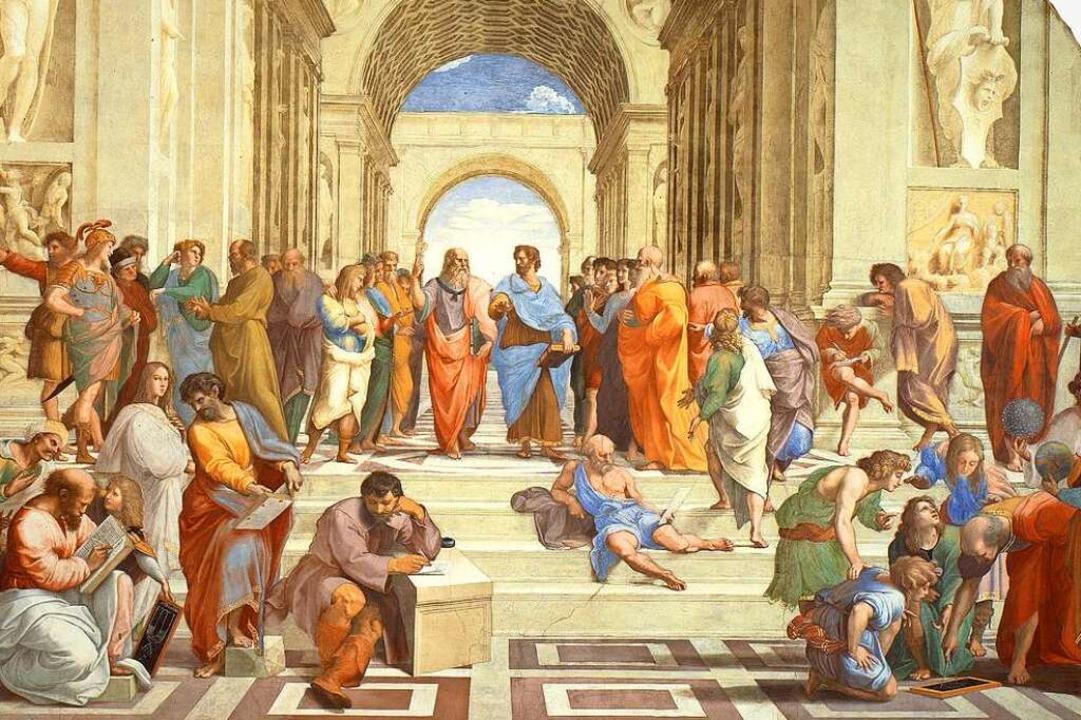 Der Dialog mit der Antike war grundleg...istoteles im Mittelpunkt (Ausschnitt).  | Foto: bz