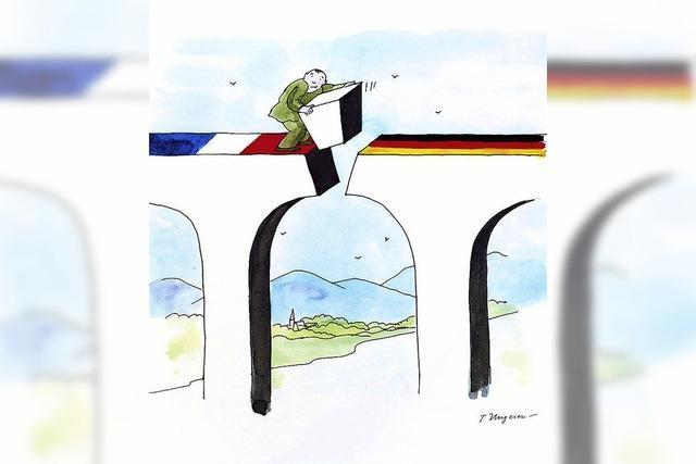 Fünf satirische Zeichner in der Fondation Fernet-Branca im elsässischen Saint-Louis