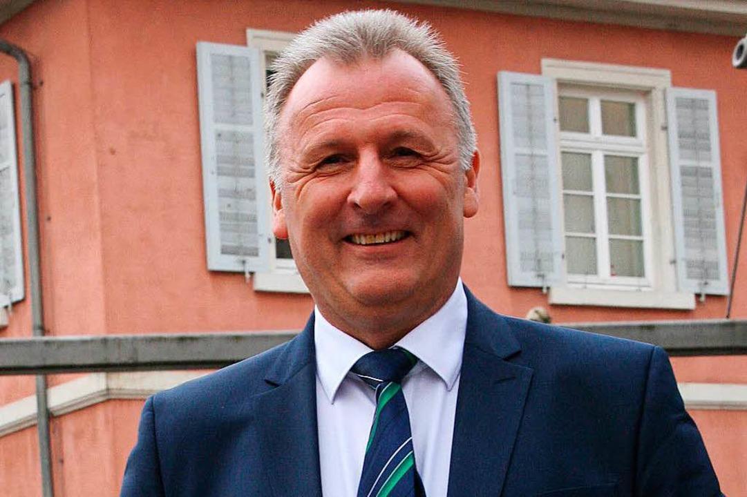 Thomas Gsell, der fürs Bürgermeisteram...tzung der Schopfheimer SPD sicher sein  | Foto: Marlies Jung-Knoblich