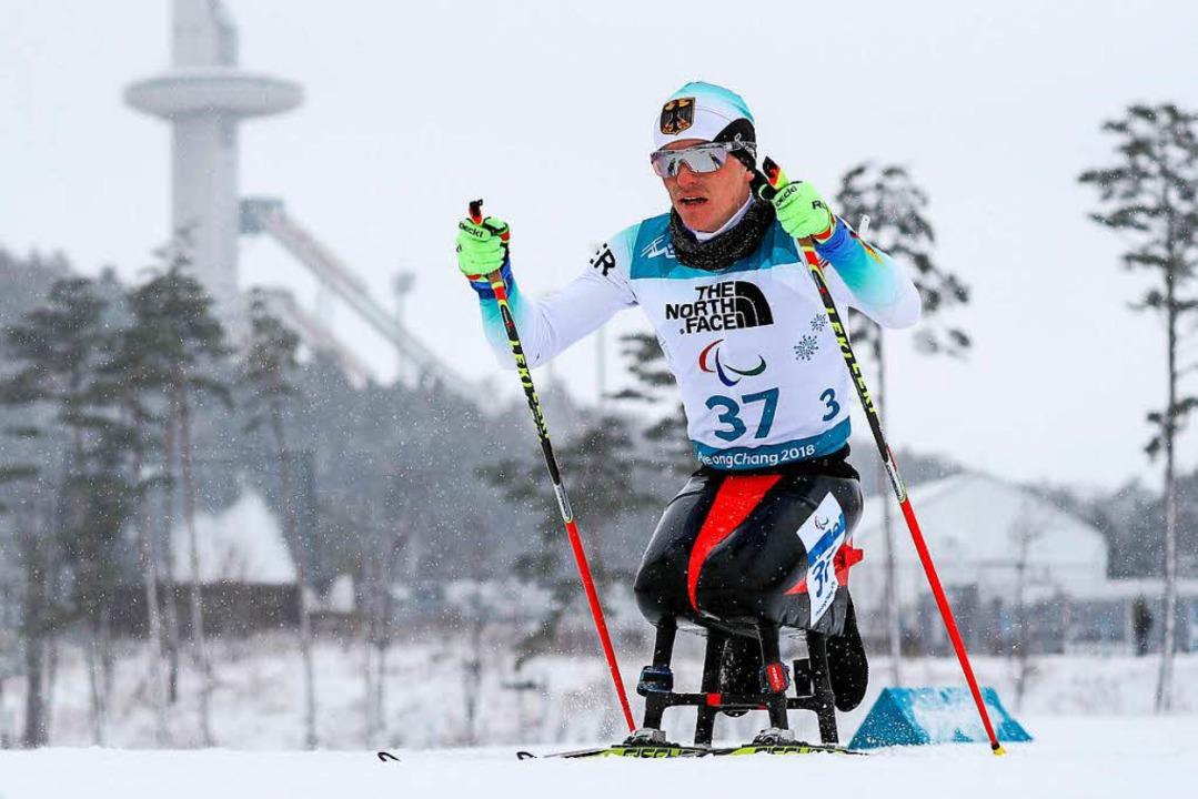 Martin Fleig auf dem Weg zu Gold  | Foto: dpa