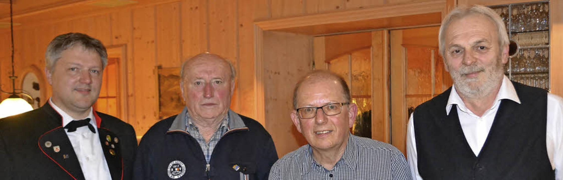 Dieter Geiger (rechts) vom  Markgräfle...(Zweiter von links) und Thomas Gutmann  | Foto: Privat