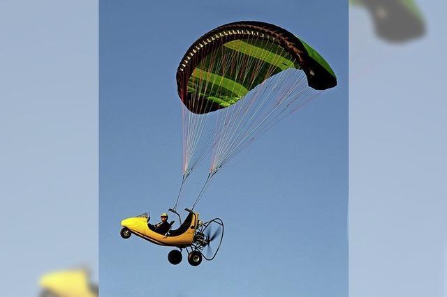 Gleitschirmflieger darf in Blansingen starten und landen
