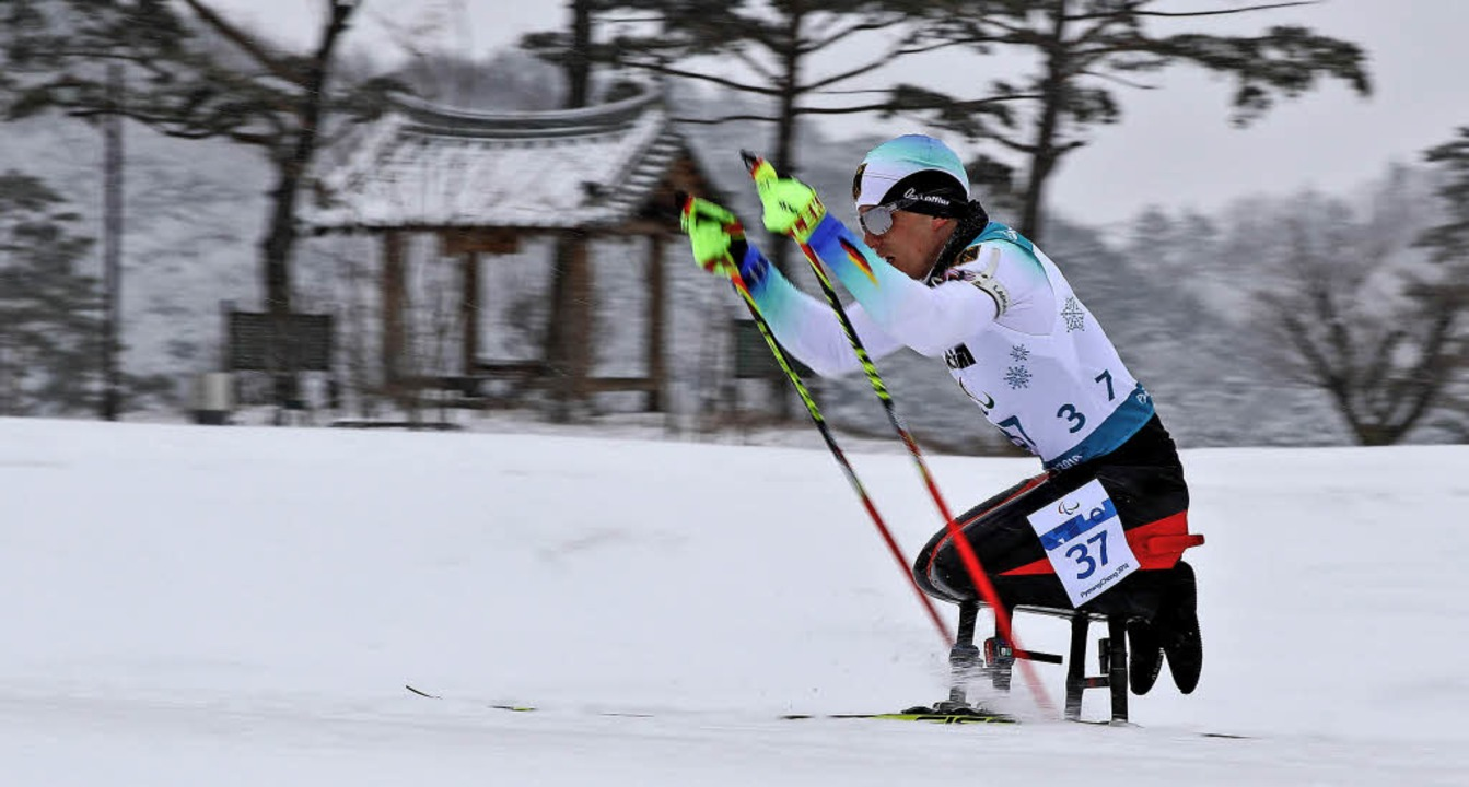 Martin Fleig auf dem Weg zu Gold.  | Foto: dpa/AFP