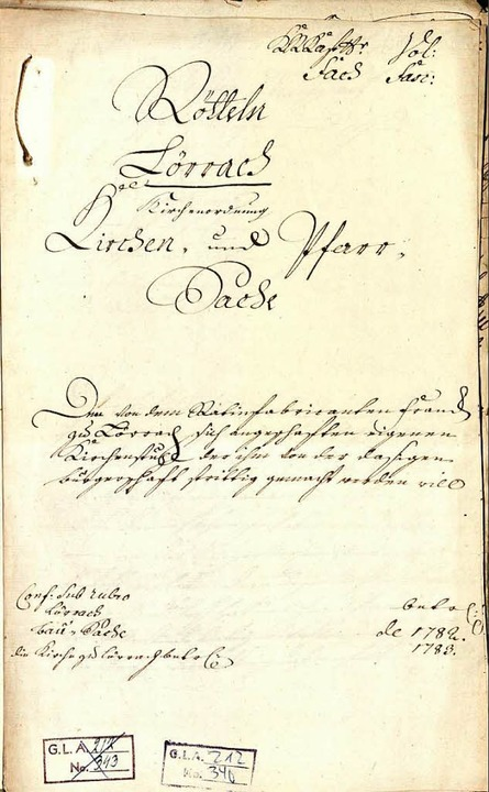 Akten zum Lörracher Kirchenstuhlstreit 1782   | Foto: Kunze