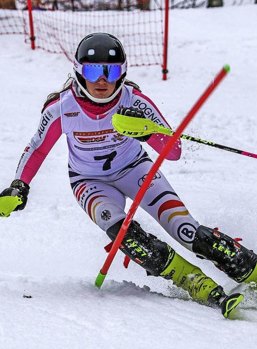 Bronze gewann  Leah Bühler im Slalom  | Foto: Siegmund