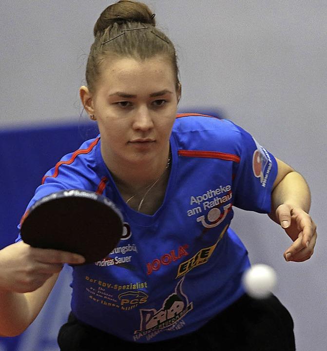 Schwankende Leistungen: Anna Kirichenko steht in Weil am Scheideweg.  | Foto: Uwe Rogowski