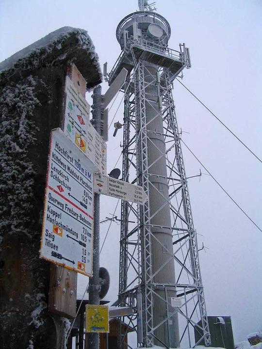 Große Sorgen bereiten dem Schwarzwaldv...nd Funkanlagen auf dem Hochfirstturm.   | Foto: Peter Stellmach